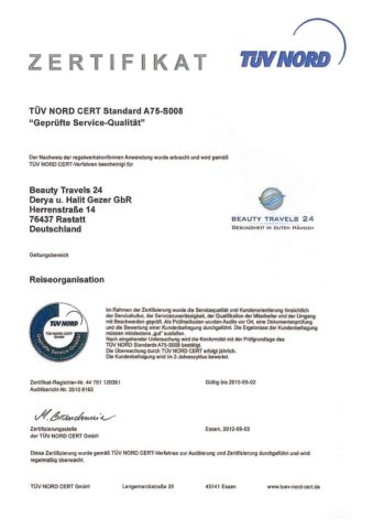 TÜV Nord Certificate 2012